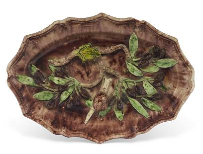 A CONTINENTAL FAIENCE PALISSY STYLE TROMPE L'OEIL