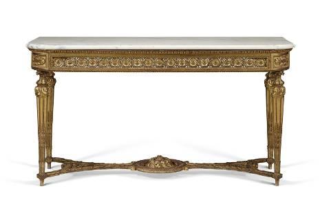 A LOUIS XVI GILTWOOD SIDE TABLE