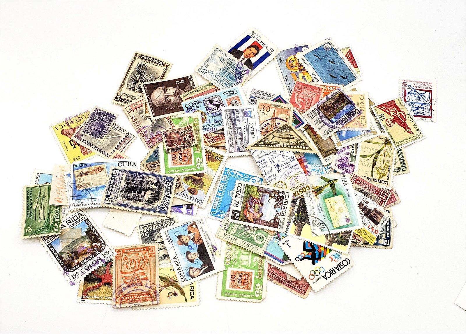 Huge Lot Vintage USA & World Stamps!