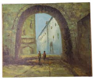 Nice Scene Oil Painting Signed!