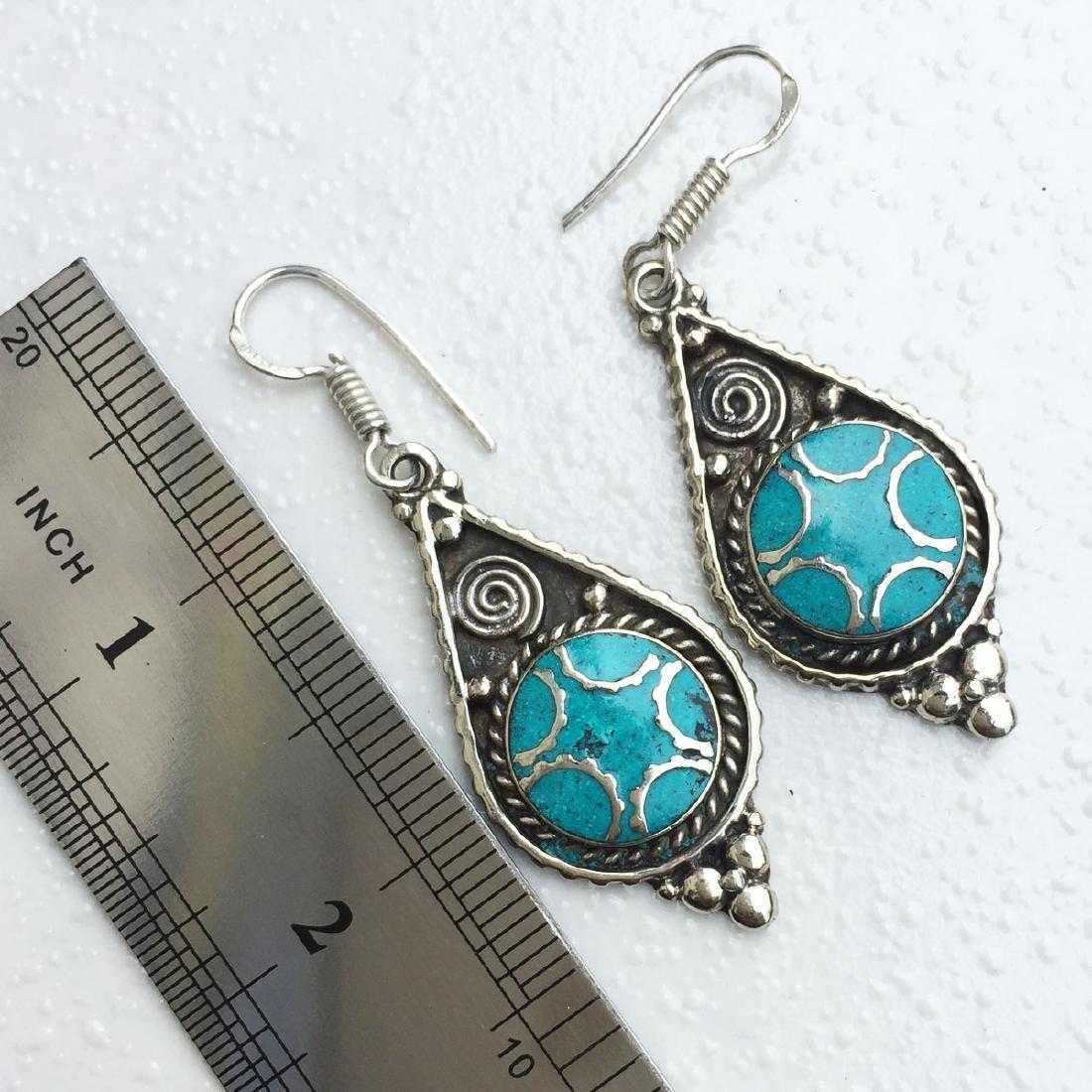 Vintage Tibetan Turquoise Beaded Earrings