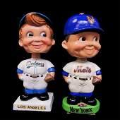 4 Vintage Sports Team Bobble Heads