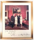 Signed Photo - President and First Lady Johnson