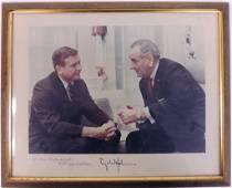 Signed Photo - President Johnson