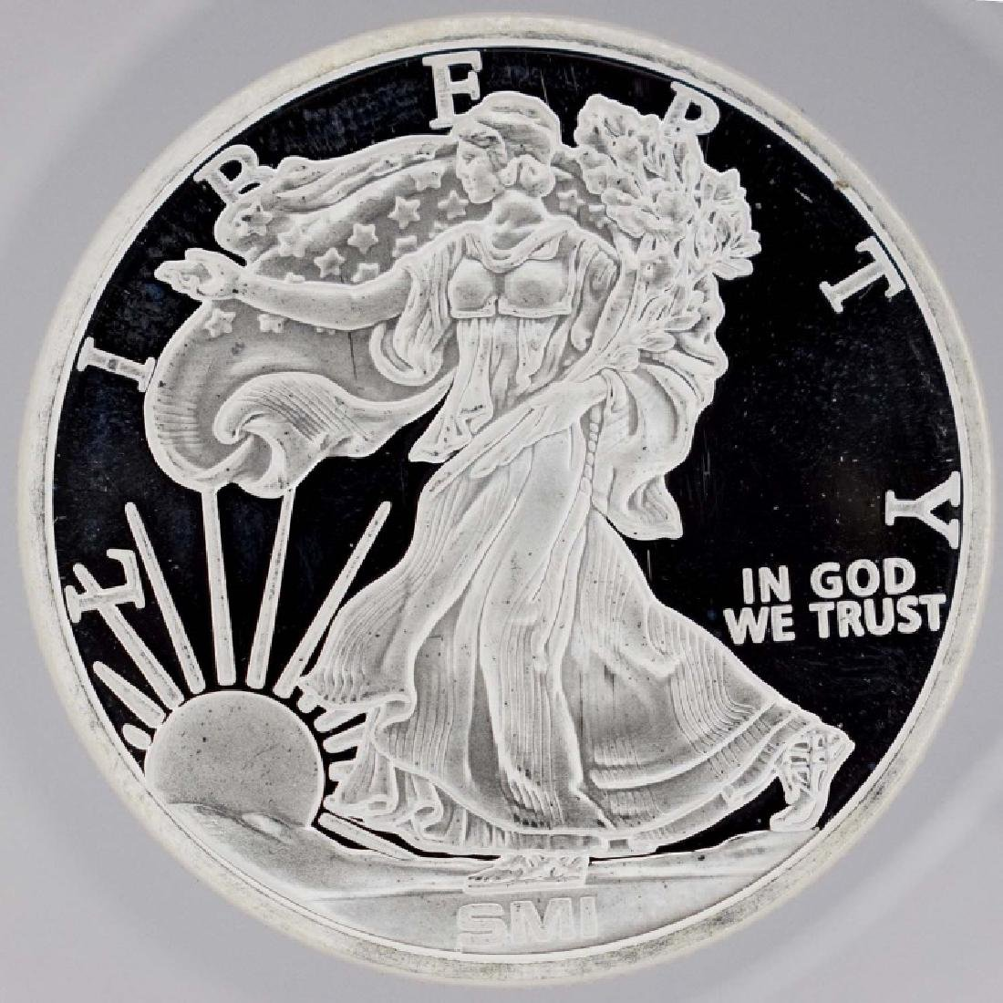 BU 1 Ounce Silver Rounds (2) .999 Pure Silver