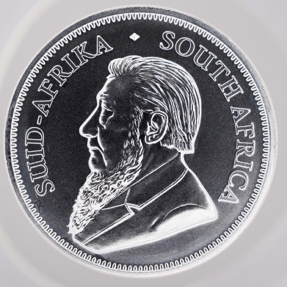 2018 South African Pure Silver Krugerrand BU, 1 ounce,