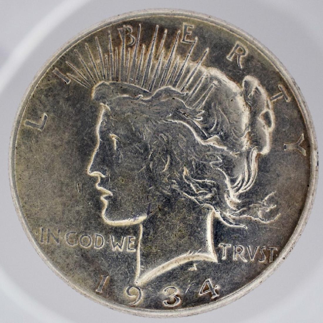 1934-s Peace Silver Dollar 34s Peace Dollar