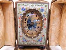 French Eight Day time only boudoir clock