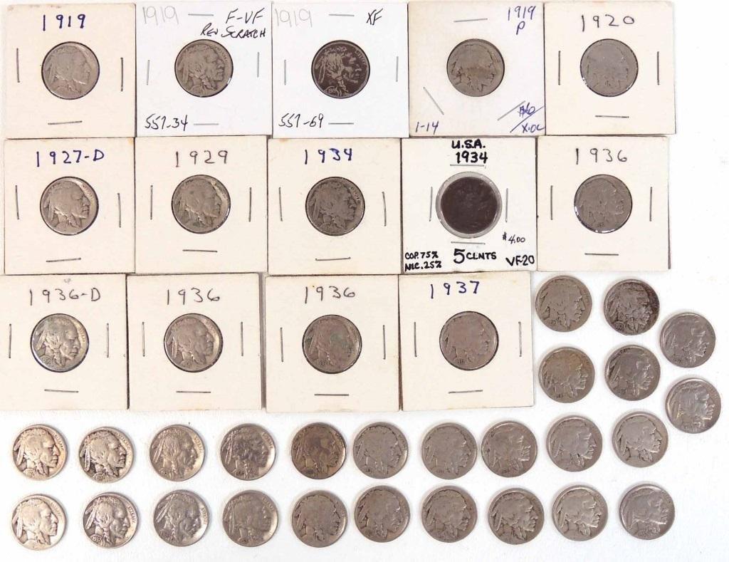 Buffalo Nickels (40)