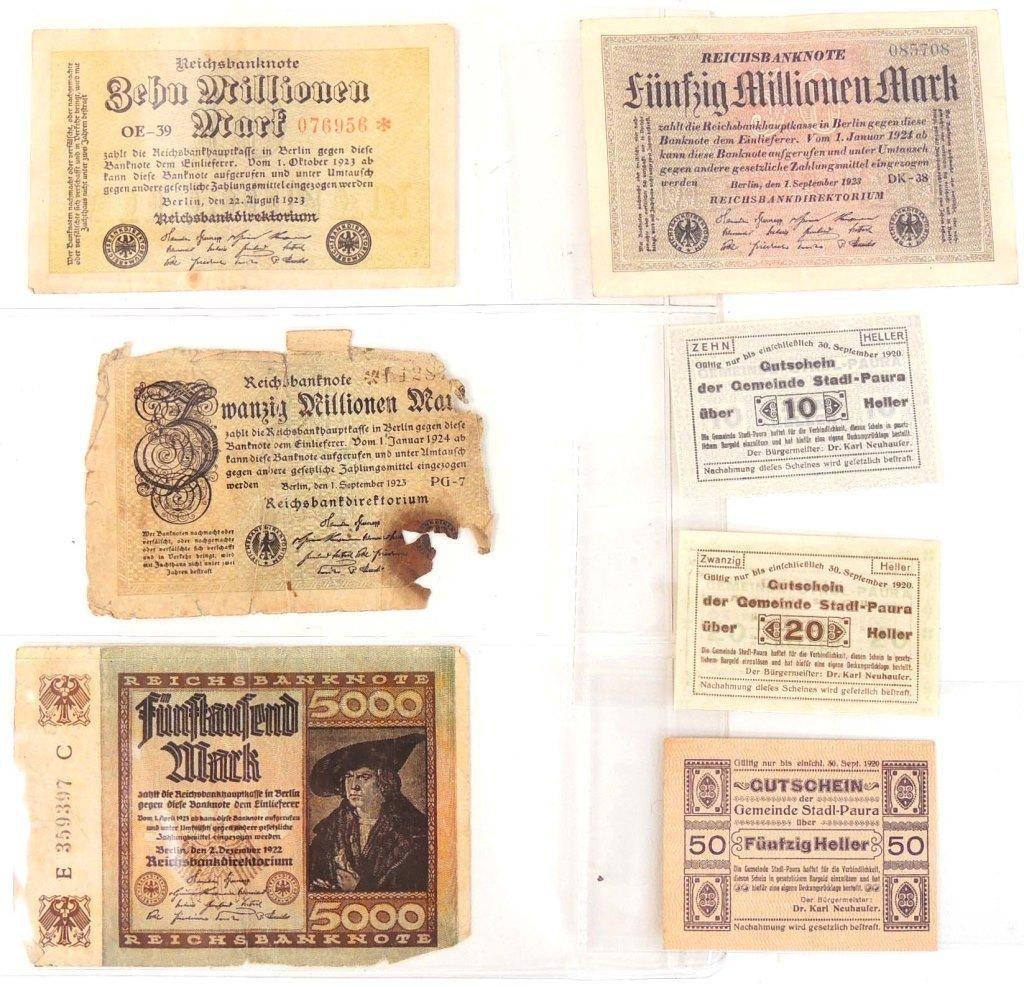 Pre-World War II German banknotes