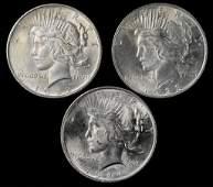 1922, 1923, 1924 Peace Silver Dollars