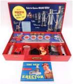 Erector Toy Set in Metal Case w/ Manual