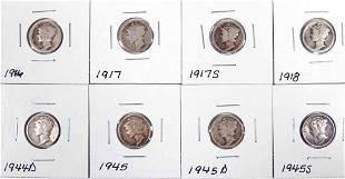 Mercury silver dimes 8