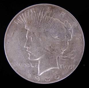 1935s Peace silver dollar XF