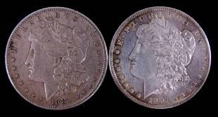 1881s 1901o Morgan silver dollars 2