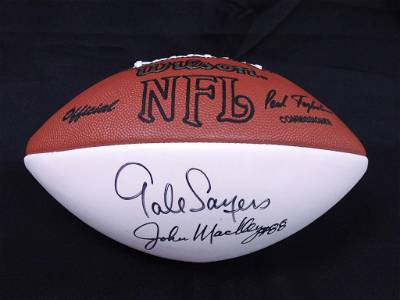 Gale Sayers & 7 more Autographed Football