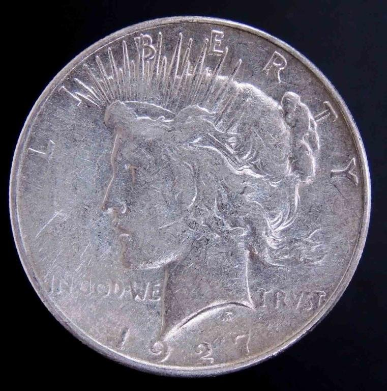 1927-s Peace silver dollar (SEMIKEY DATE)