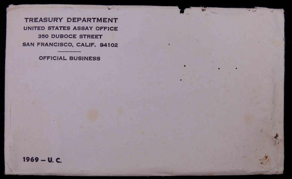 1969 U.S. Mint Set In Envelope