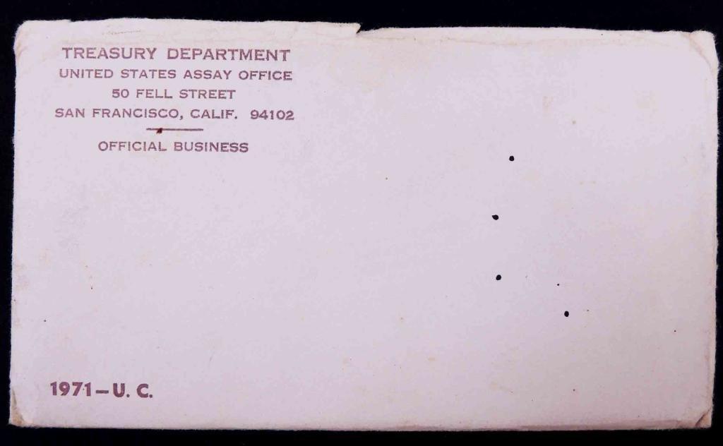 1971 U.S. Mint Set In Sealed Envelope