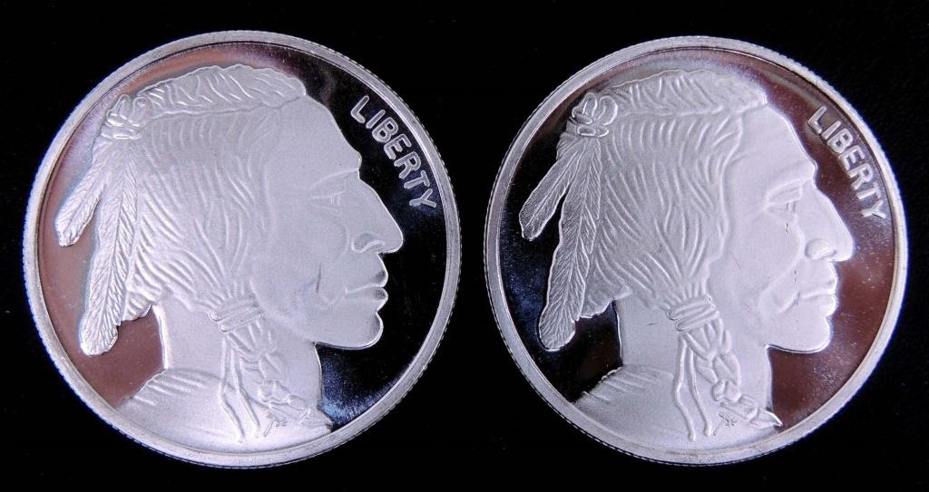 Two 1 ozt. Fine Silver Rounds