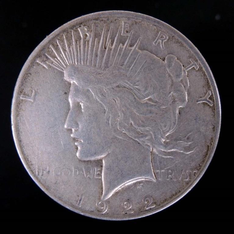 1922 - d Peace Silver Dollar