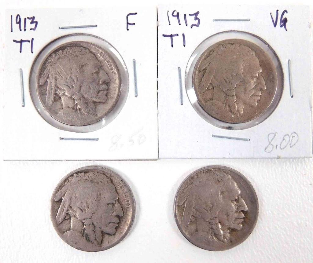 1913 Buffalo Nickels (4)