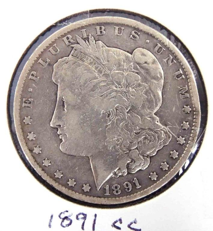1891-cc Morgan Silver Dollar