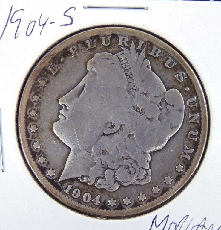 1904 - s Morgan Silver Dollar
