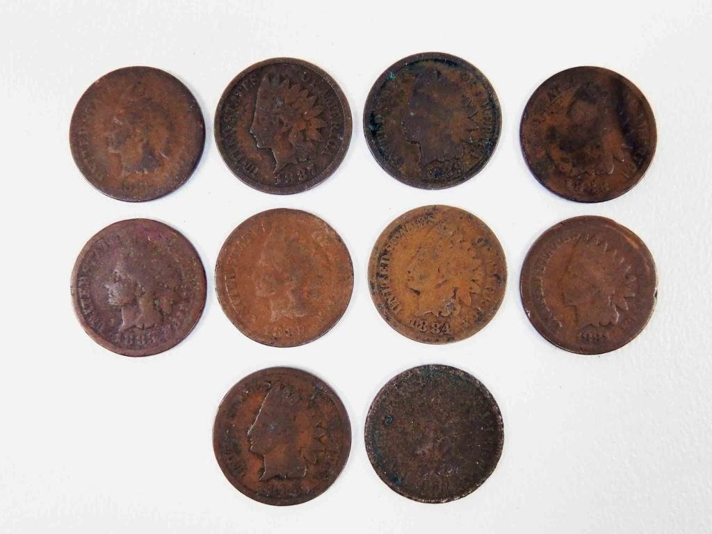 1880s Indian Head Cents (10)