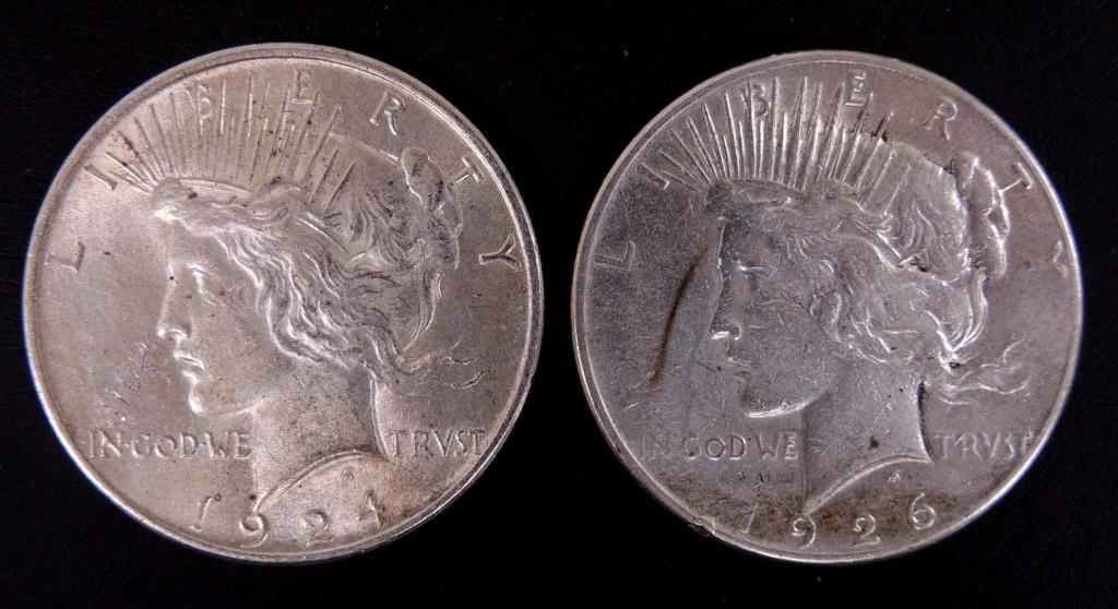 1924 & 1926-s Peace Dollars
