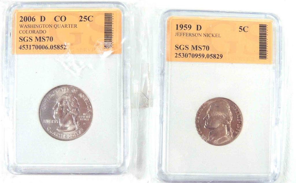 1959, 2006, Graded Coins (2)