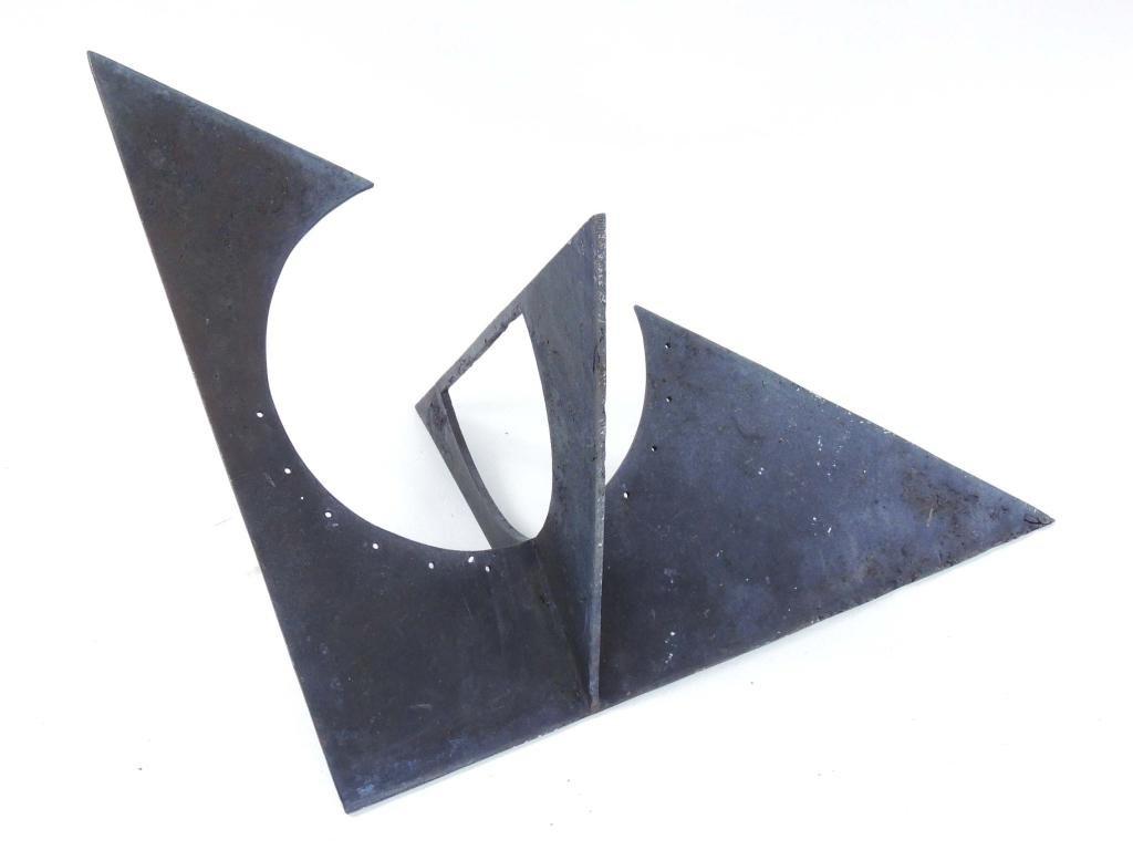 Metal Sundial Sculpture
