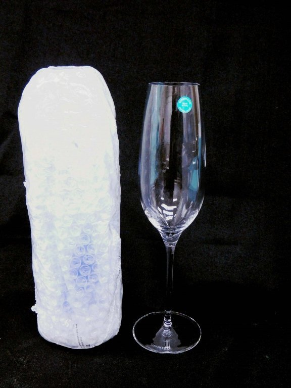 Tiffany & Co. Champagne Flutes, New in Tiffany Box
