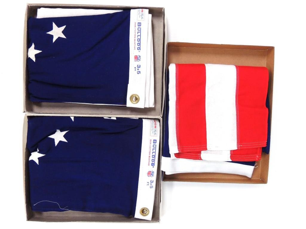 American Flags in Boxes - Lot of 3