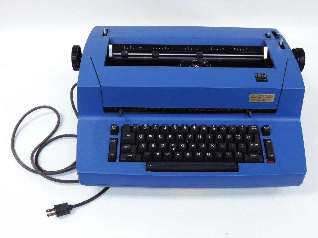 IBM Typewriter Selectric II - Blue