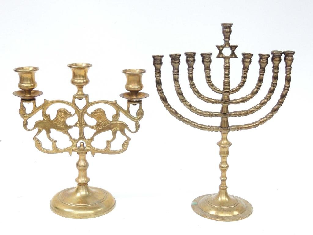 Brass Lot (Menorah and candle holders)