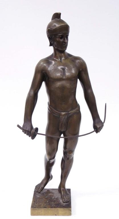 Bronze by Ernst Beck - Greek or Roman Soldier Statue