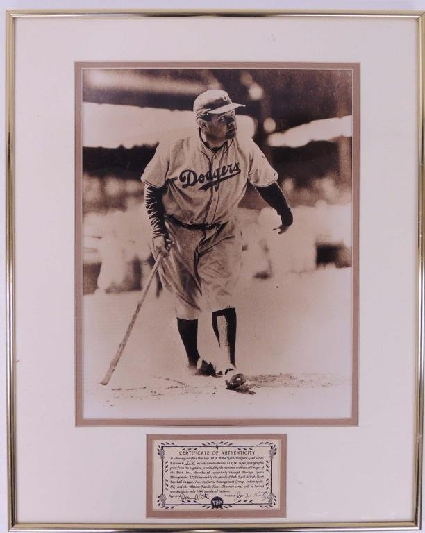 Babe Ruth 1938 Dodgers Gold Series