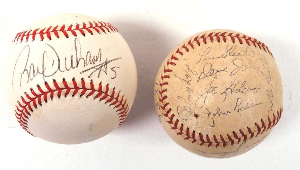 2 Signed Baseballs, Ray Durham & 56 Braves *