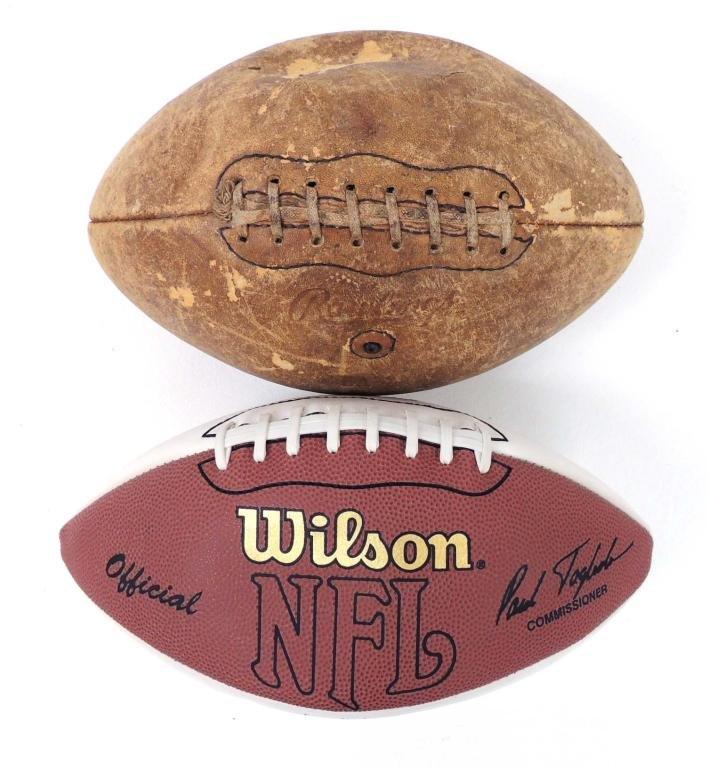 Signed Football & Unsigned Football