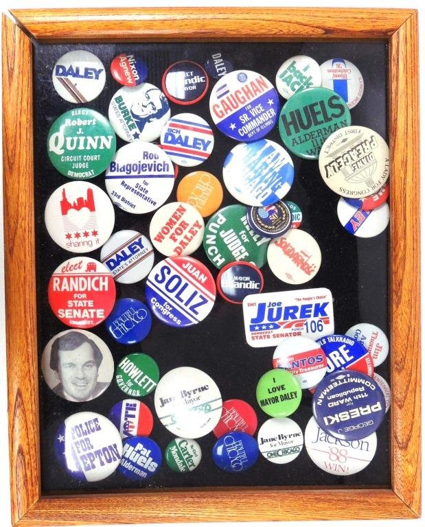 Chicago Campaign & Sports Buttons