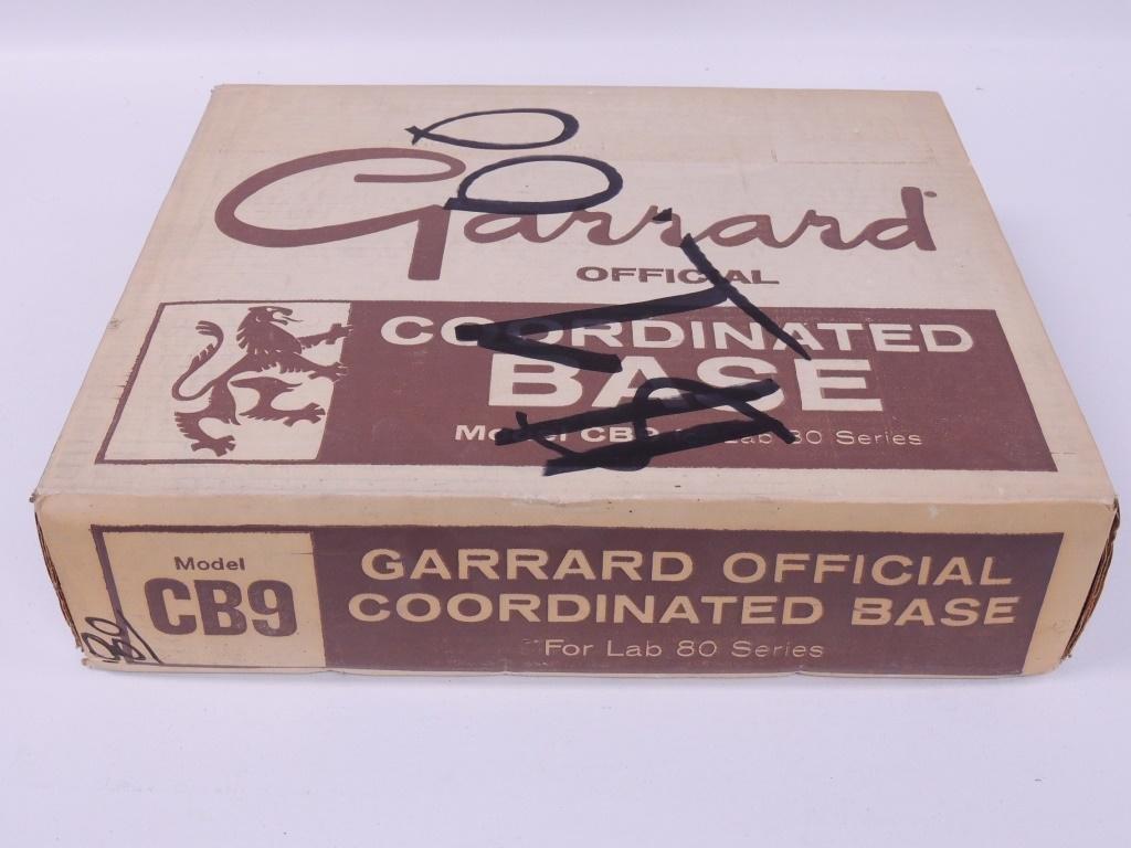 Garrard Official Coordinated Base In Box - NOS