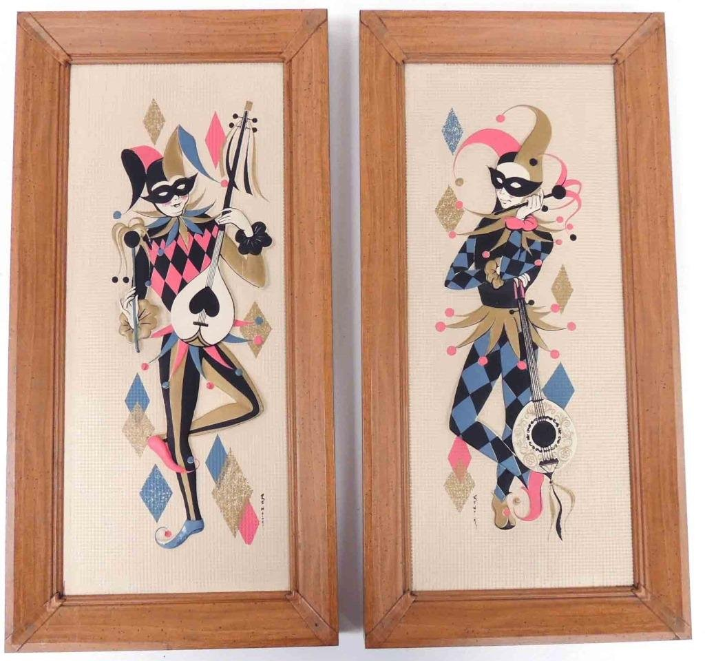 Harlequin - 2, framed, Metalcraft Chicago IL