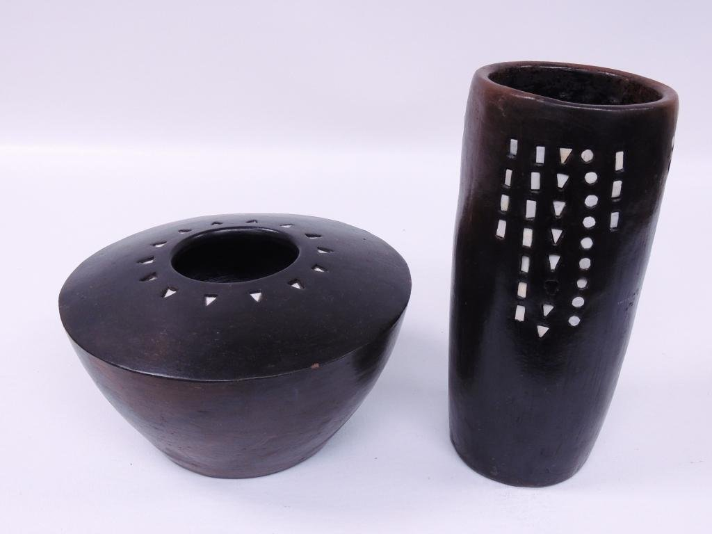 Indonesian Pottery Bowl and Vase