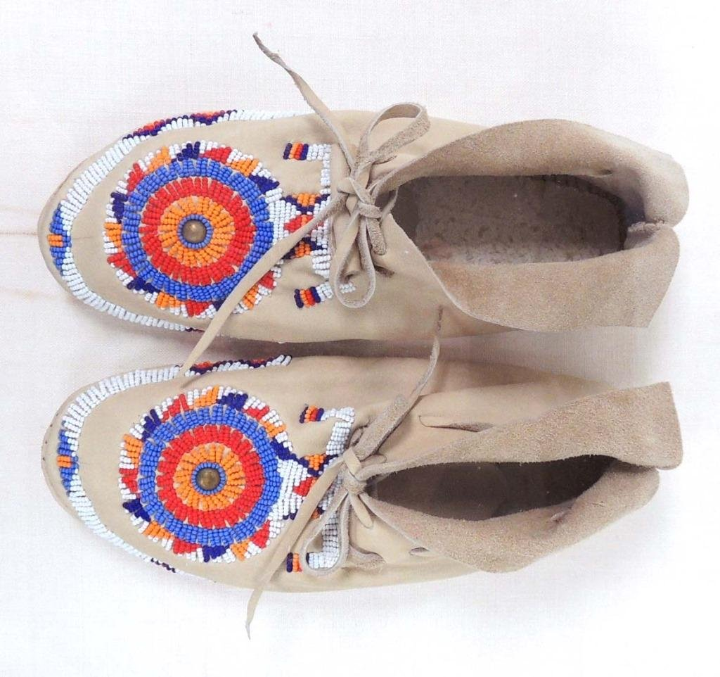 Moccasins in Lucite Shadow Box