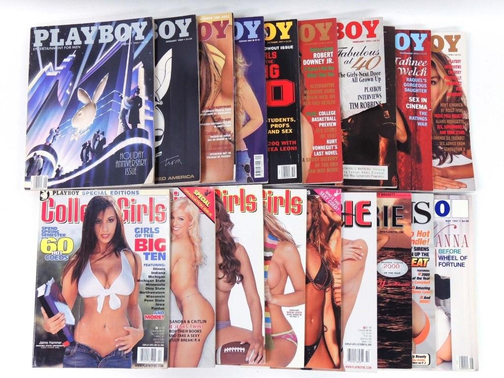 19 Playboy and other Magazines