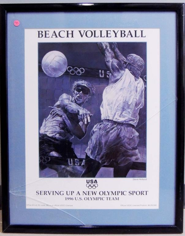 1996 US Olympic Team Beach Volleyball Poster