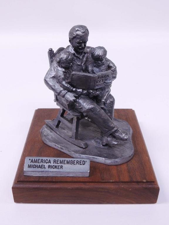 "Pewter Sculpture, Michael Ricker ""America"