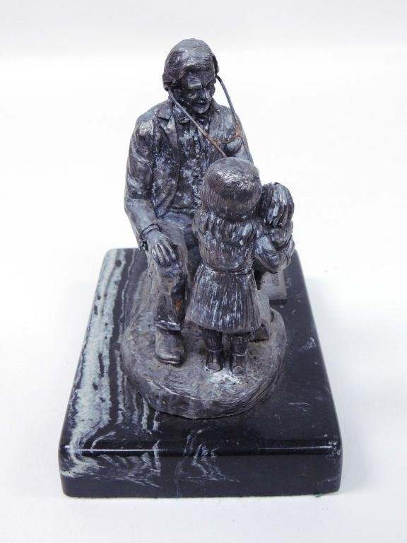 "Pewter Sculpture, ""Doc"", Michael Ricker"