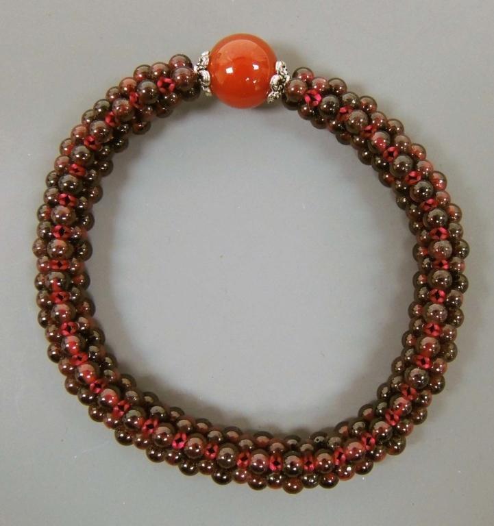 Ruby Bracelet & Heart Pendant Necklace